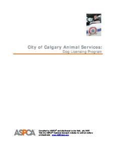 City of Calgary Animal Services: Dog Licensing Program