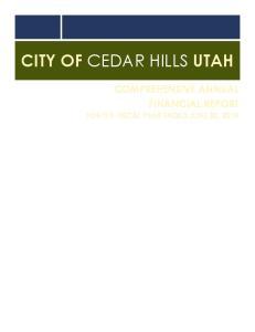 CITY OF CEDAR HILLS UTAH