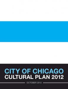 City of ChiCago. CULtURaL PLaN 2012