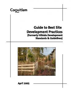 City of Coquitlam Guide to Best Site Development Practices