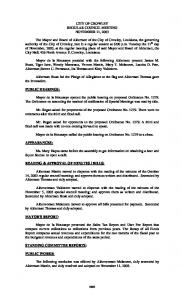 CITY OF CROWLEY REGULAR COUNCIL MEETING NOVEMBER 11, 2003
