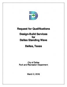 City of Dallas Park and Recreation Department