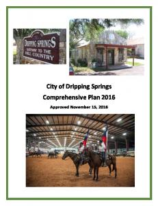 City of Dripping Springs Comprehensive Plan 2016