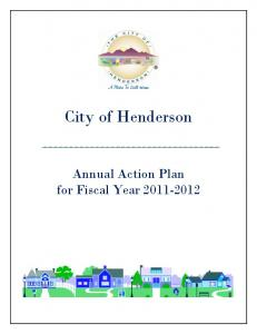 City of Henderson Annual Action Plan for Fiscal Year