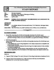 City of Huntington Beach Planning and Building Department STAFF REPORT