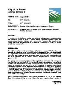 City of La Palma Agenda Item No. 3
