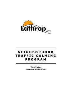 City of Lathrop Department of Public Works