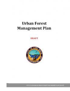 CITY OF LONG BEACH URBAN FOREST MANAGEMENT PLAN [DRAFT]