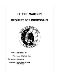 CITY OF MADISON REQUEST FOR PROPOSALS