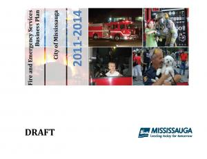 City of Mississauga. Fire and Emergency Services. Business Plan DRAFT