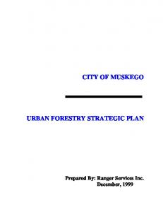 CITY OF MUSKEGO URBAN FORESTRY STRATEGIC PLAN
