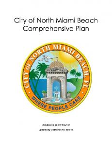 City of North Miami Beach Comprehensive Plan