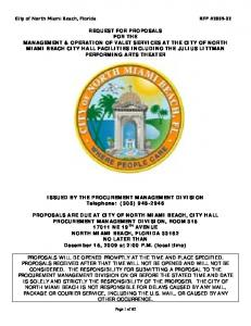 City of North Miami Beach, Florida RFP #