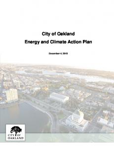 City of Oakland Energy and Climate Action Plan. December 4, 2012