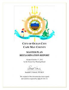 CITY OF OCEAN CITY CAPE MAY COUNTY