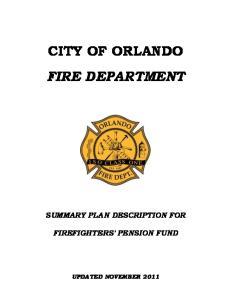 CITY OF ORLANDO FIRE DEPARTMENT