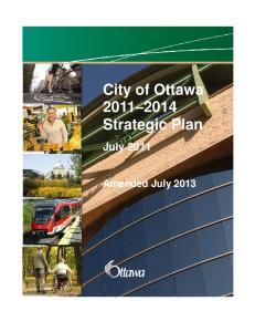 City of Ottawa Strategic Plan. July 2011