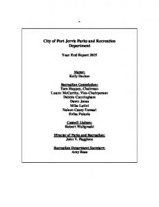 City of Port Jervis Parks and Recreation Department
