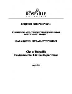 City of Roseville Environmental Utilities Department
