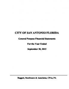 CITY OF SAN ANTONIO FLORIDA