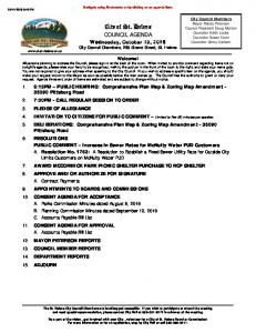 City of St. Helens COUNCIL AGENDA
