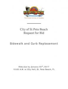 City of St Pete Beach Request for Bid