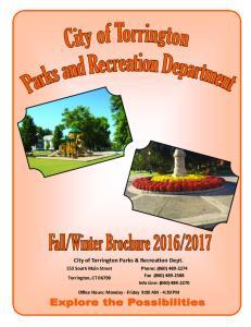 City of Torrington Parks & Recreation Dept