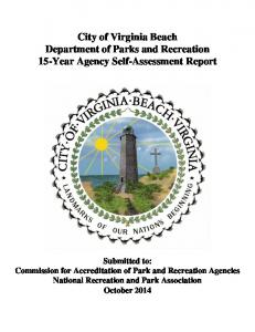 City of Virginia Beach Department of Parks and Recreation 15-Year Agency Self-Assessment Report