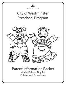 City of Westminster Preschool Program