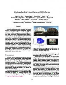 City-Scale Landmark Identification on Mobile Devices