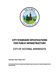 CITY STANDARD SPECIFICATIONS FOR PUBLIC INFRASTRUCTURE
