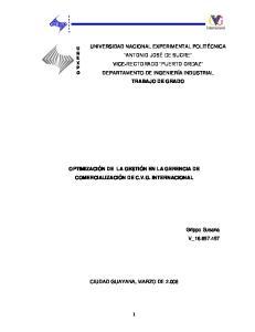 CIUDAD GUAYANA, MARZO DE 2.008