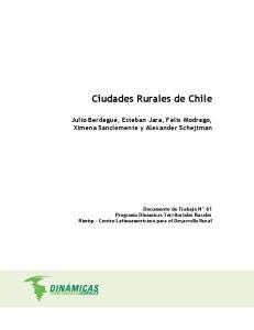 Ciudades Rurales de Chile