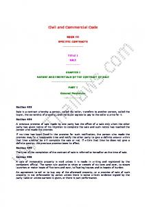 Civil and Commercial Code