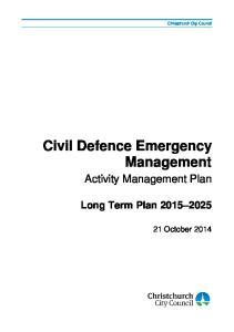 Civil Defence Emergency Management