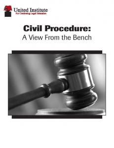 Civil Procedure: A View From the Bench