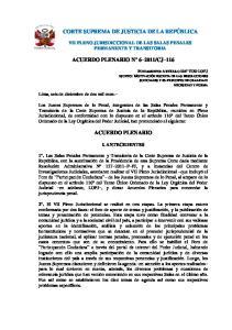 CJ 116 ACUERDO PLENARIO