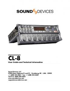CL-8. User Guide and Technical Information
