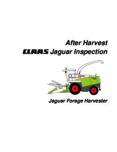 CLAAS Jaguar Inspection