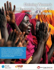 Claiming Women s Economic, Social and Cultural Rights