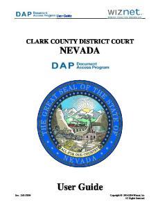 CLARK COUNTY DISTRICT COURT NEVADA