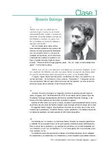 Clase 1. Horacio Quiroga