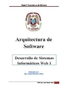 Clase 2: Arquitectura de Software