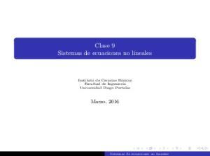 Clase 9 Sistemas de ecuaciones no lineales