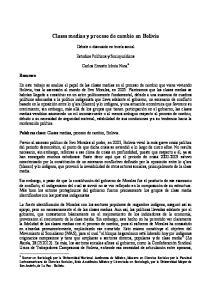 Clases medias y proceso de cambio en Bolivia
