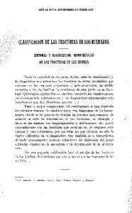 CLASIFICACION DE LAS FRACTURAS DE LOS MIEMBROS