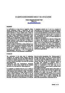 CLASIFICACION GEOMECANICA Y SU APLICACION