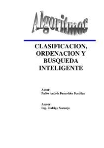 CLASIFICACION, ORDENACION Y BUSQUEDA INTELIGENTE