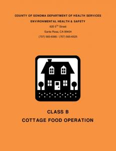 CLASS B COTTAGE FOOD OPERATION