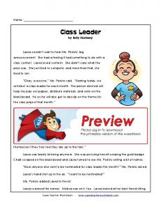 Class Leader by Kelly Hashway
